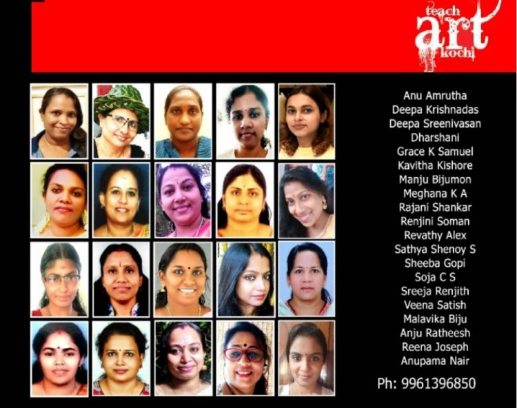 Teach Art Kochi Conducting Womens Day special one day camp