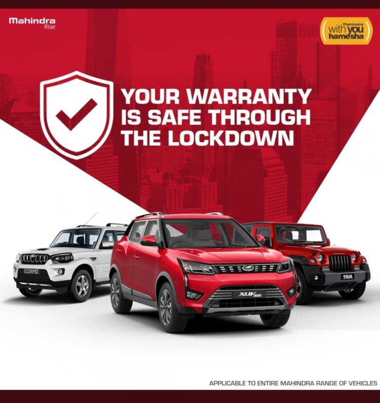 Mahindra extends warranty and free service period on its entire range of vehicles by 3 months.