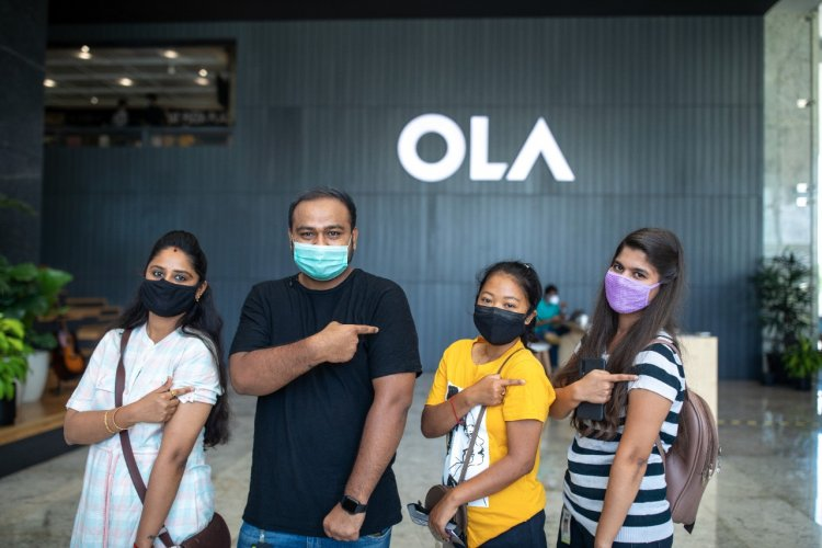 Ola completes vaccination for over 50% of its employees and their dependents.