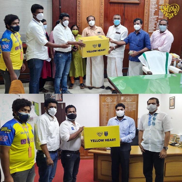 Kerala Blasters FC donates 10,000 N95 masks.