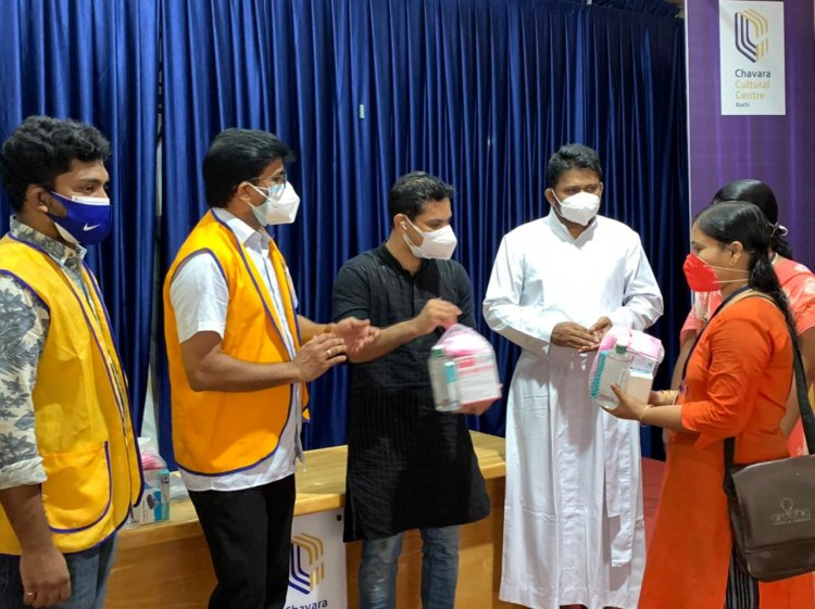 Lions Club of Cochin South distributed covid care materials to Asha workers