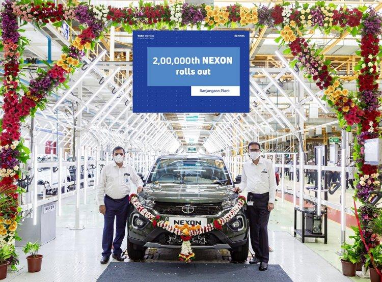 Tata Motors rolls out the 2,00,000th Nexon.