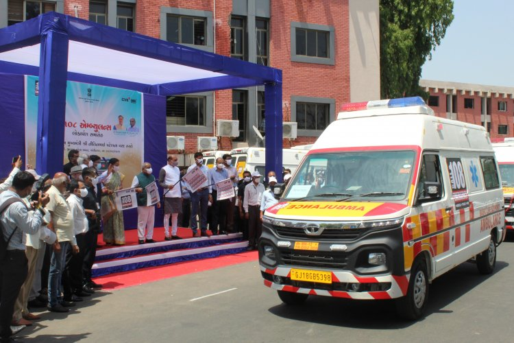 Tata Motors bags order of 115 ambulances from the Government of Gujarat; supplies first lot of 25 vehicles.