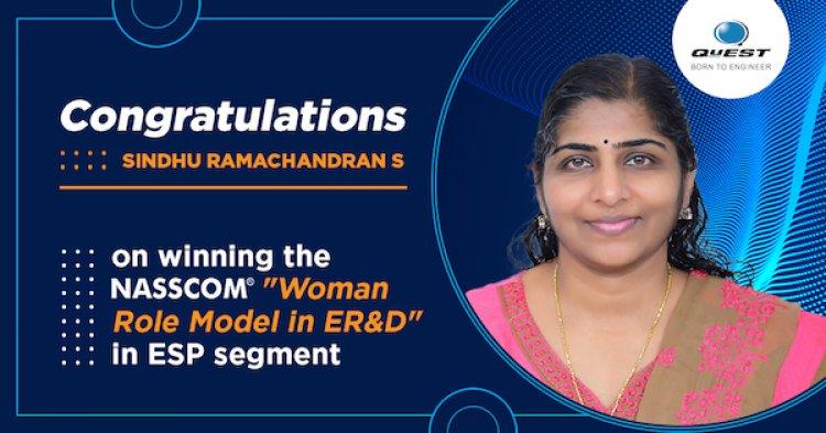 NASSCOM recognizes QuEST Global's Sindhu Ramachandran as a Woman Role Model in ER&D.