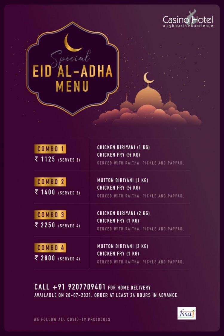 Casino hotel announced  special EID AL-ADHA menu.
