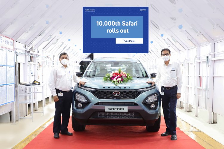 10000th Tata Safari rolls out of the line - The iconic brand crosses its first milestone in just five months