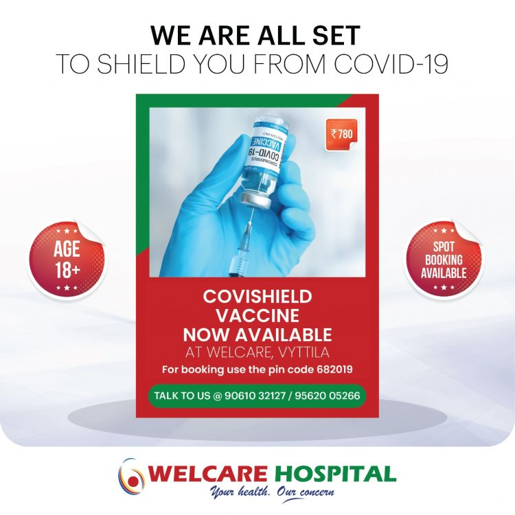 Vytila welcare hospital is all set for covid-19 vaccination.